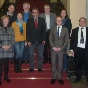 Mitglieder der SPD-Regionalratsfraktion im Verkehrsministerium in Berlin