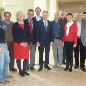 Mitglieder der SPD-Regionalratsfraktion in Berlin
