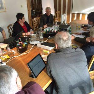 Jugendamtsleiter Michael Färber im Gespräch mit der SPD-Kreistagsfraktion